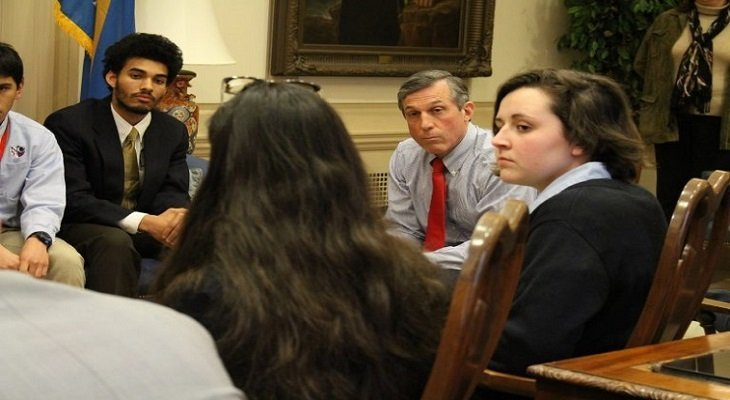 Students meet with GOV Carney about gun safety
