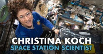 After one year in space, Astronaut Christine Koch returns to Earth