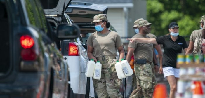PHOTOS: See National Guard distribute food in Greenwood
