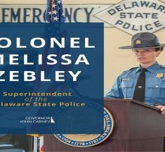 Lt. Col. Melissa A. Zebley appointed as Superintendent of the Delaware State Police