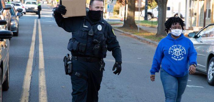 Gallery: Dover Police and volunteers distribute 150 Turkeys  in communities