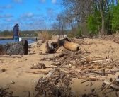 See these awesome students cleanup Deemers Beach in New Castle