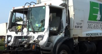 Police investigating accident involving tractor trailer and trash truck